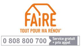 Faire : tous éco-confortables. 0808800700 (service gratuit + prix d'un appel)